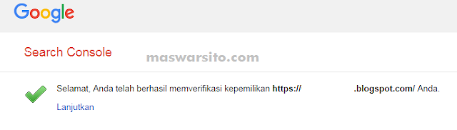 Cara Verifikasi Google Search Console