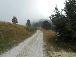 La strada del Colle della Ciabra
