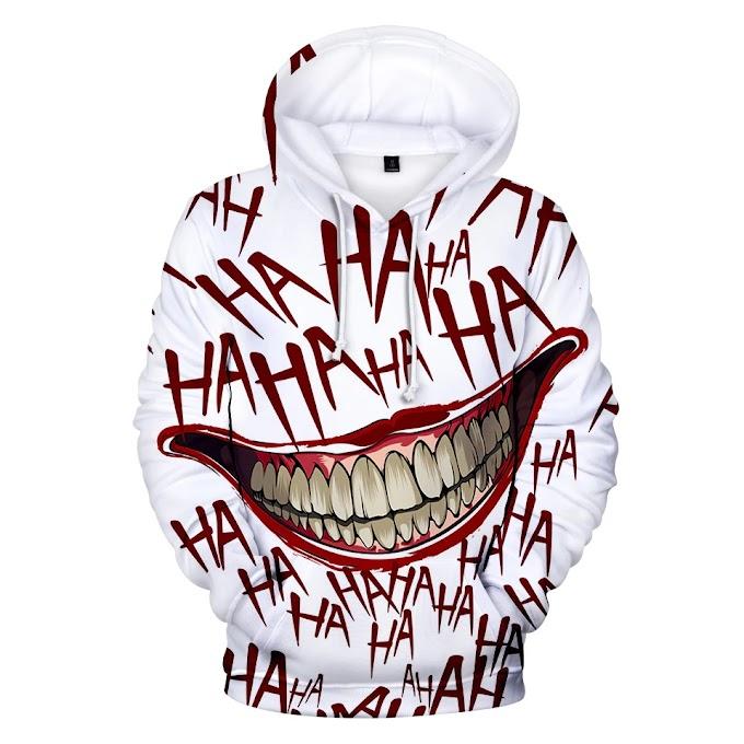 Funny Hoodies Joker 3D Print Sweatshirt Hoodies Men and Women Hip Hop