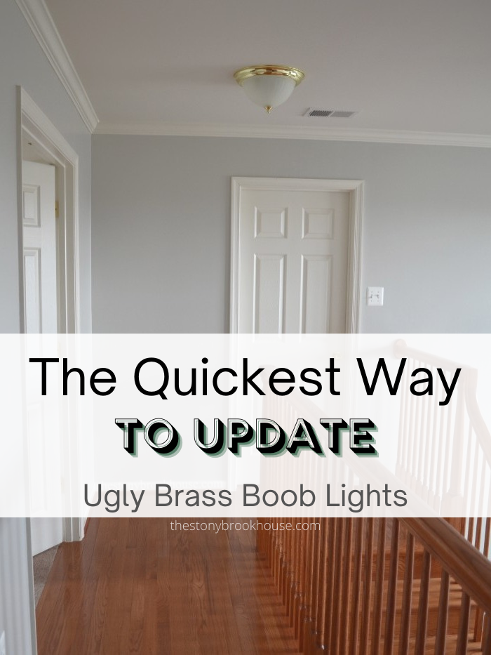 The Quickest Way To Update UGLY Brass Flush Mount Lights