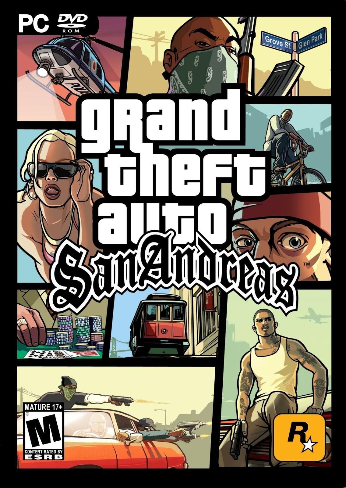 Descargar Grand Theft Auto San Andreas PC Cover Caratula