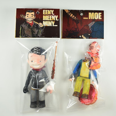 "The Walking Kids ""Eeny, Meeny, Miny…"" Negan Resin Figure by Super Secret Fun Club"