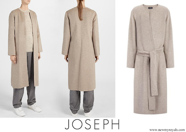 Crown Princess Mary wore JOSEPH Double Cashmere Oslo Coat