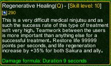 naruto castle defense 6.0 Regenerative Healing detail