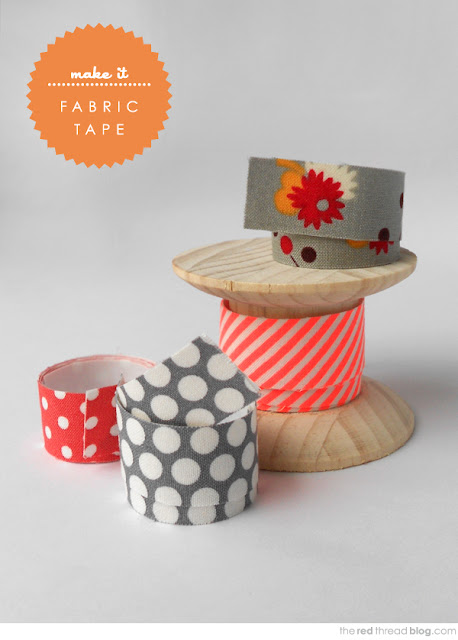 Fabric tape - tutorial found at We Are Scout blog