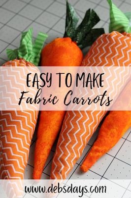 Easy to make homemade fabric stuffed carrots