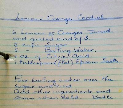lemon orange cordial