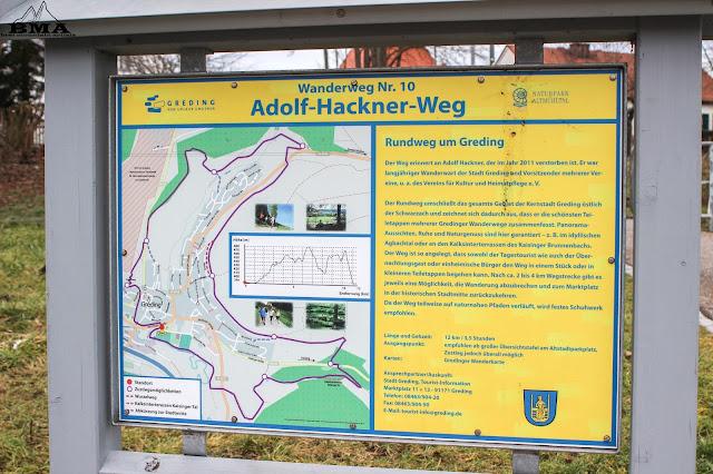 wandern Greding Adolf-Hackner-Weg Altmühltal Schwarzachtal