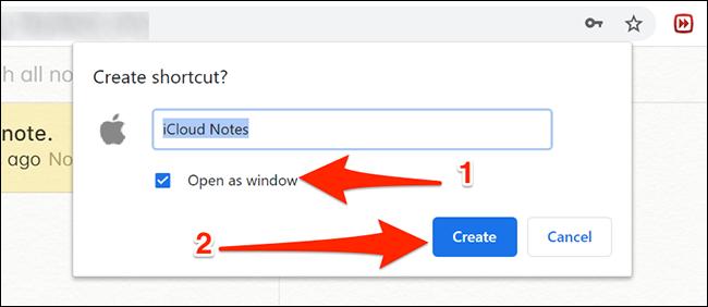 تكوين تطبيق Notes في Chrome