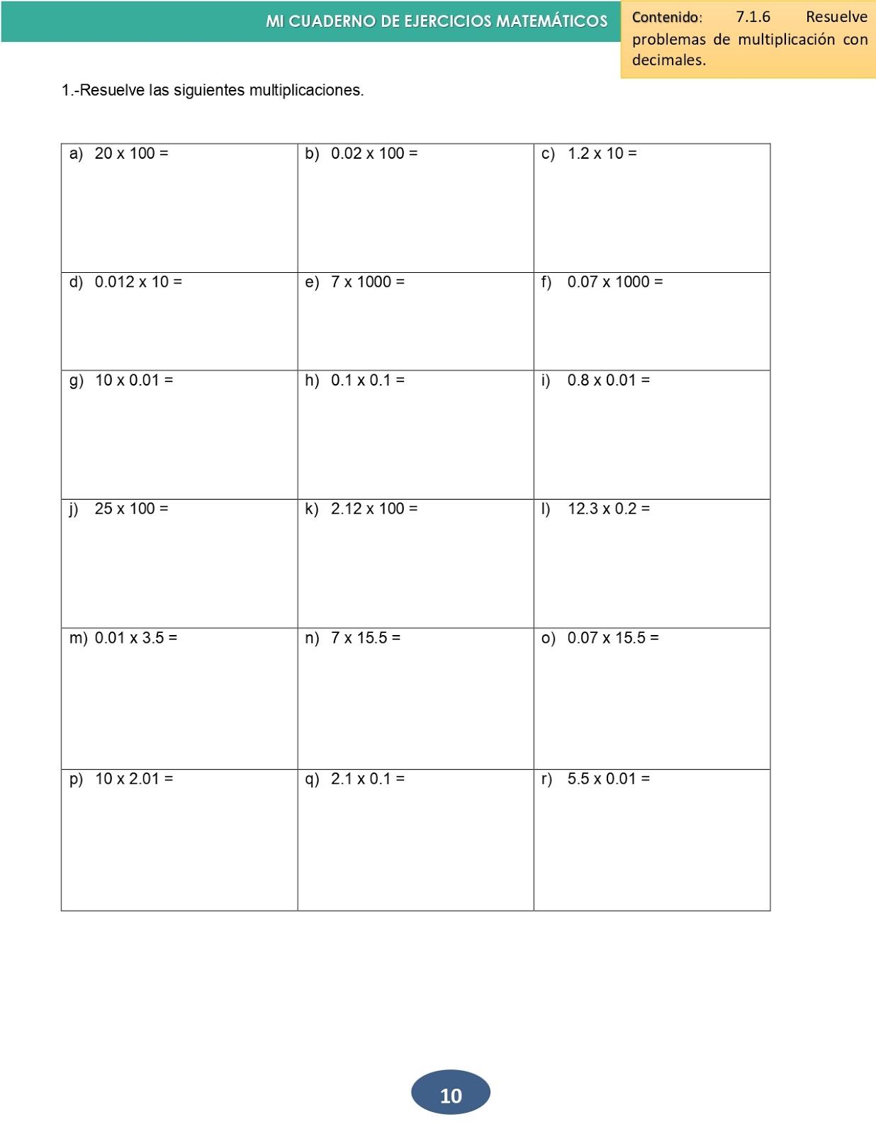 Mi Cuaderno De Matematicas