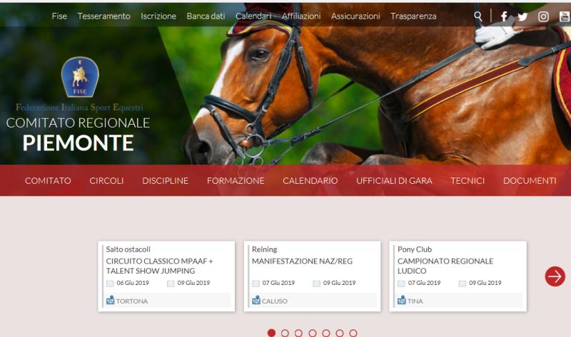 Fise Piemonte Calendario.Mauro Penza Reining News Regioni Fise Al Via I Nuovi Siti
