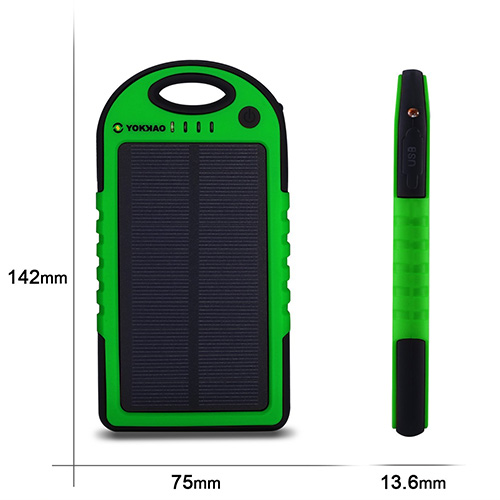 Chargeur solaire Yokkao LED 5000mAh pour téléphone portable