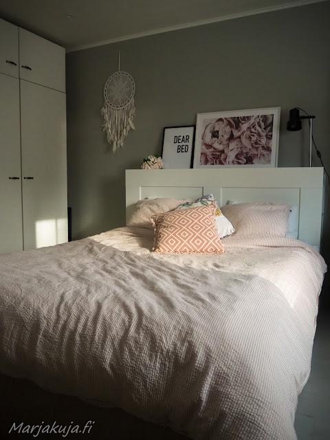 makuuhuone sisustus blogi jotex tekstiili boheemi