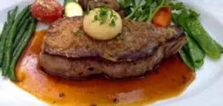 Guerison service dish -  Entrecote Au poivre