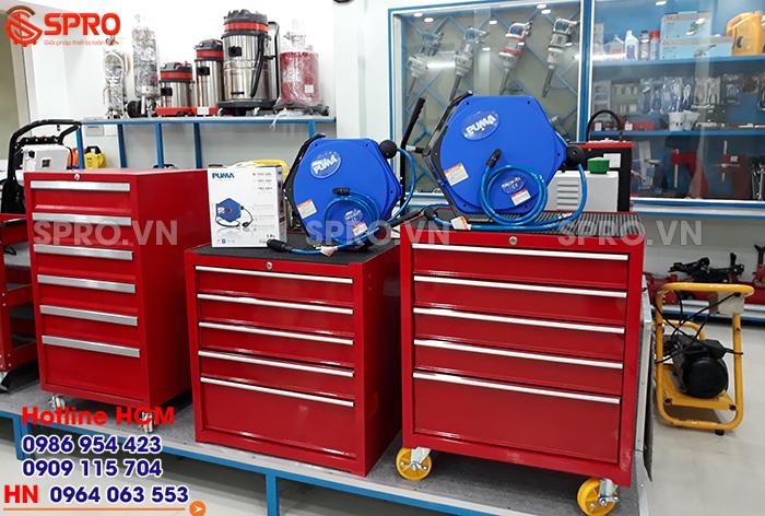 Tủ đồ nghề, cuộn dây hơi, Dụng cụ sửa xe gắn máy mua ở đâu rẻ và bền
