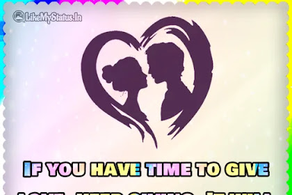 If you have time to give love
