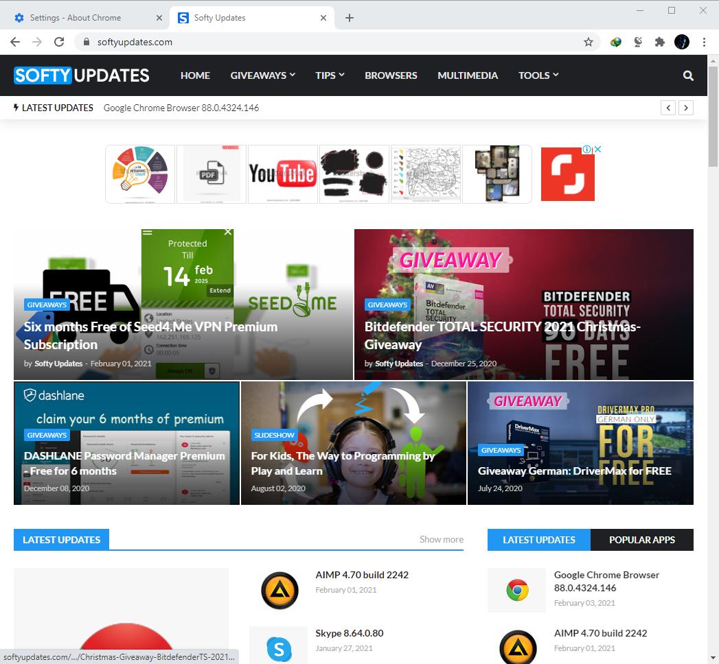 Google Chrome Browser 88.0.4324.150