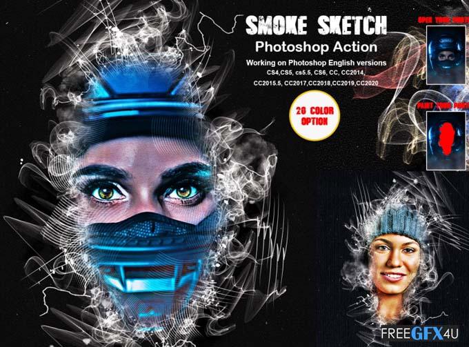 Smoke Sketch Photoshop Action
