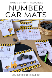 Construction Themed Number Pack - These construction themed number play mats are perfect for building number sense from preschool to first grade! With three different types of truck themed number mats included, just choose the one you want to add to your math centers, morning work or math tubs. Just print and add different materials to invite play - rocks, blocks, LEGO, playdough... so many ways to use this pack to build rich math play in the Early Years!