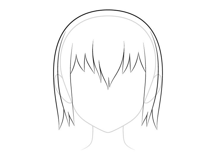 Anime gambar rambut basah atas