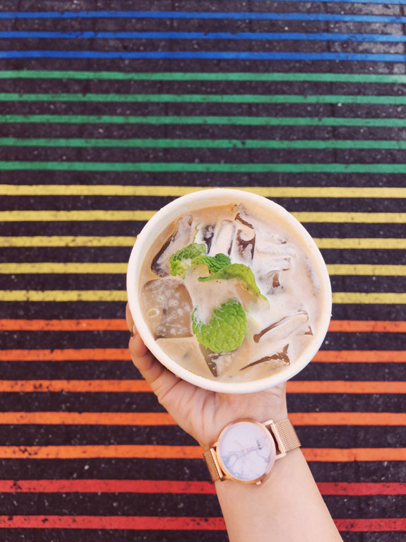 San Francisco Bucket List - get a Tesora or Mint Mojito at the original Philz Coffee