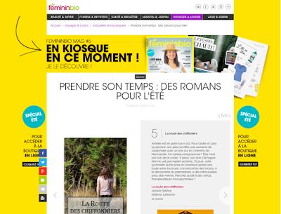 des livres pour l'été sur Fémininbio