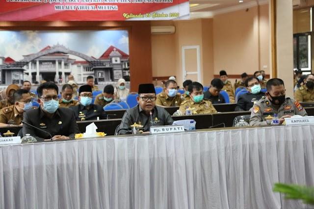 Rapat Paripurna, Pjs Bupati Lampung Selatan Sampaikan Dua Raperda Secara Virtual