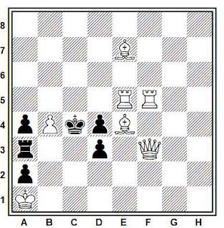 Problema de mate en 2 compuesto por Yuri Vakhlakov (2° Premio, Shakhmaty (Riga) / Sahs 1976)