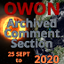 Archived Comment Section   25 September to 11 November, 2020
