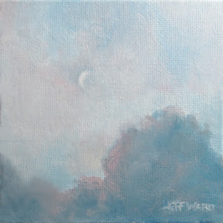 Crescent Moon oil painting by Jeff Ward