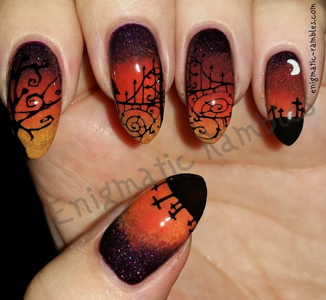 Halloween-Graveyard-Gradient-Nails-Nail-Art-Stamped-Stamping-Gothic-Collection-01-04