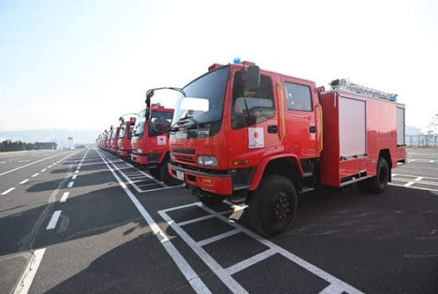 Japón entregó 22 camiones de bomberos a Armenia