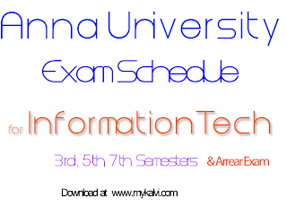 anna university,time table,it,exam schedule