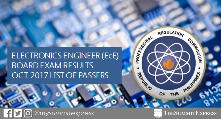 FULL RESULTS: October 2017 ECE board exam passers list, top 10