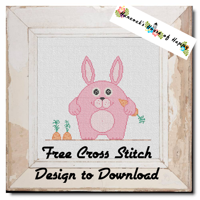 Free Happy Easter Bunny Cross Stitch Chart has Moved to a New Page. Click the Link Below.