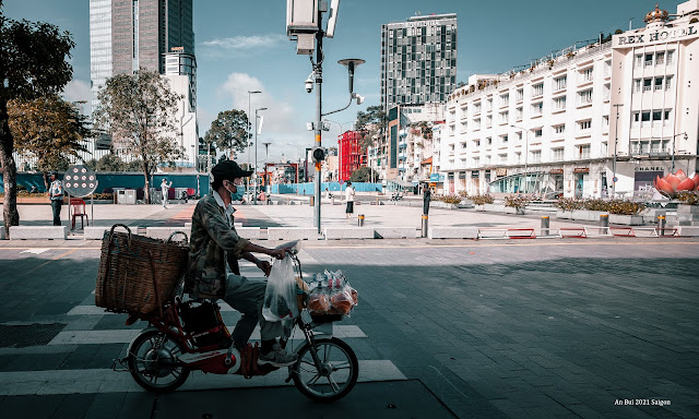 Cycling in the city of Saigon after 3 months lock down