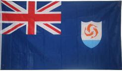 The National Flag Of Anguilla Consists A Blue Ensign With British In Canton Charged Coat Arms Fly