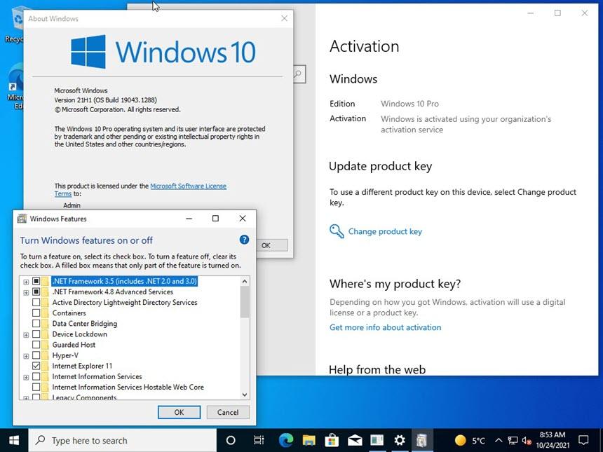 Windows 10 21H1 (19043.1288)