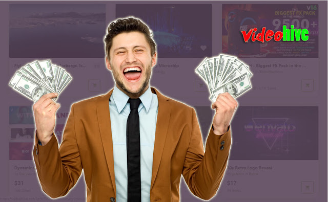 طريقة جديدة لربح المال من الأنترنت وذلك عبر موقع Videohive لبيع وشراء الفيديوهات، الصور، الأوديوهات...