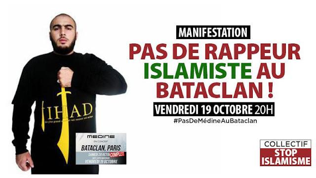 Bataclan próba profanowania ofiar muzułmańskich ekstremistów