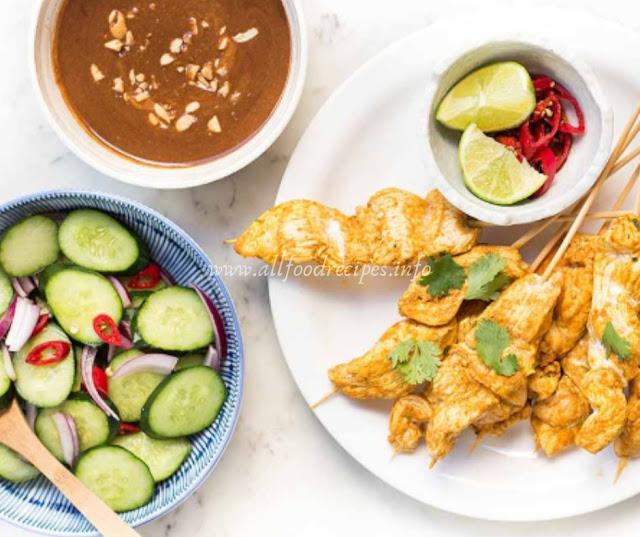 Spicy Chicken Satay & Cucumber Salad