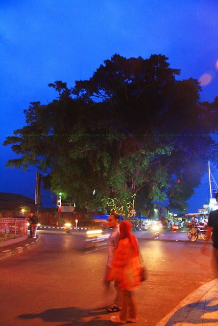 Pohon berlampu di Kuningan