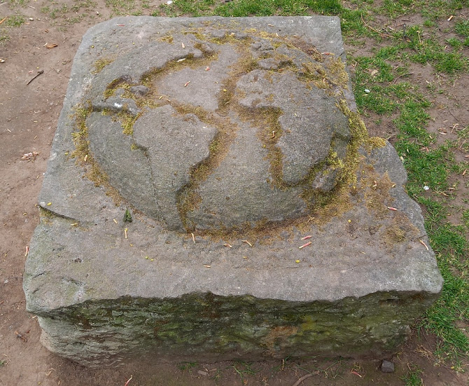 An Earth stone at Runcorn Hill Park
