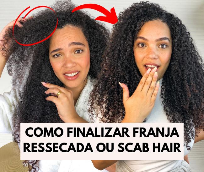como finalizar a parte da frente do cabelo cacheado