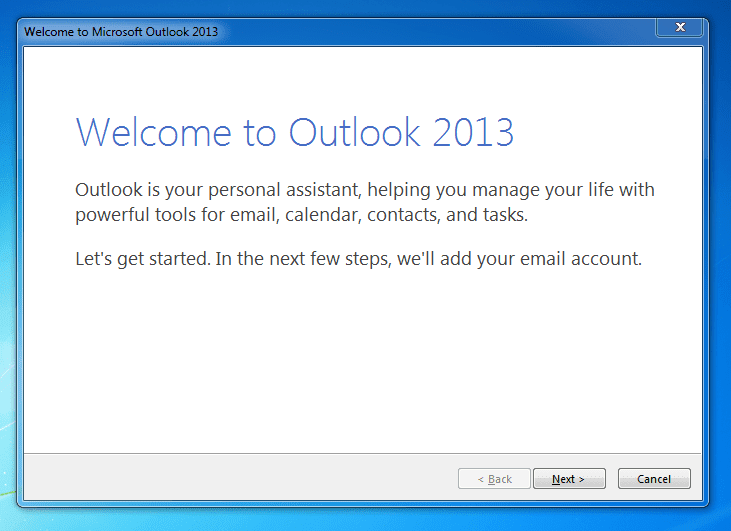 Microsoft Outlook 2013 for Gmail SMTP