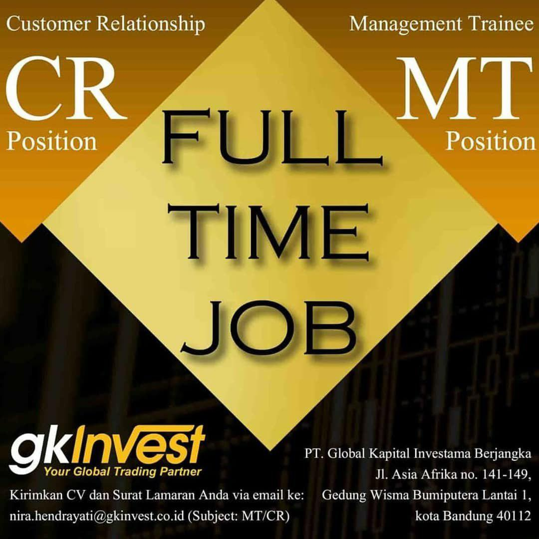 Lowongan Kerja PT Global Kapital Investama (GK Invest ) Bandung Agustus 2019