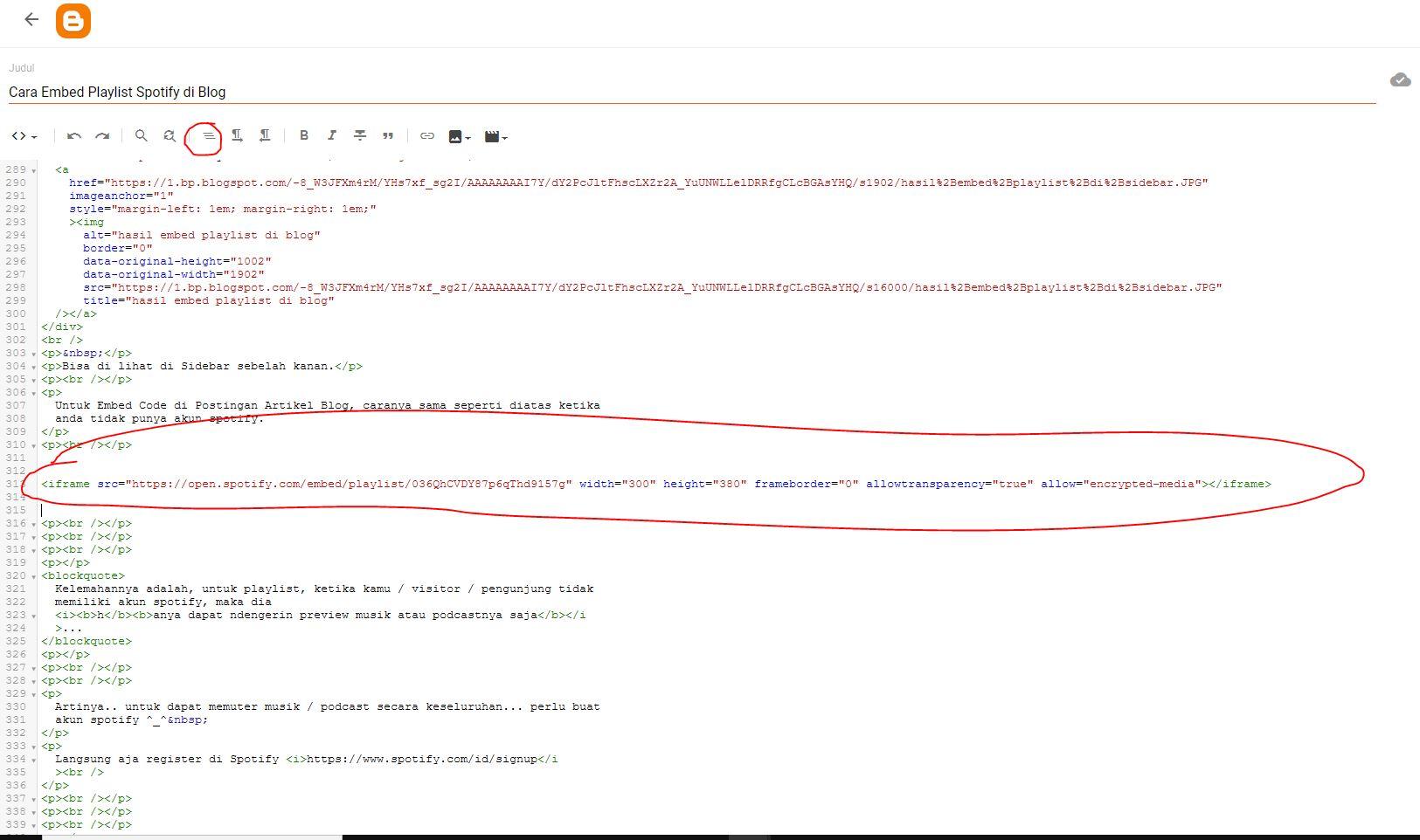 menata code html