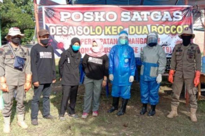 Satgas 'Palang' Jembatan Solo Demi Cegah Corona Masuk Ke Bone