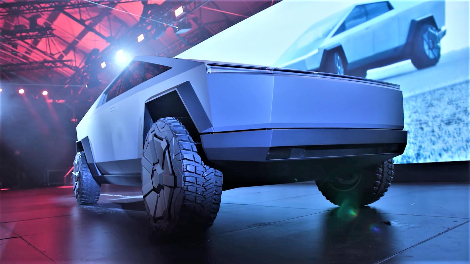 Tesla Cybertruck, the electric pickup.