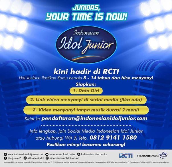 Syarat Indonesian Idol Junior 2018